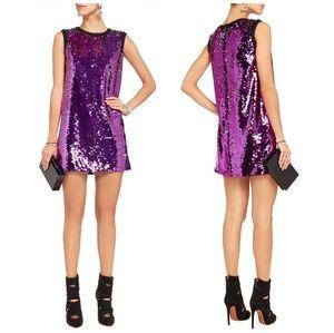 Dolce & Gabbana purple sequined mini dress